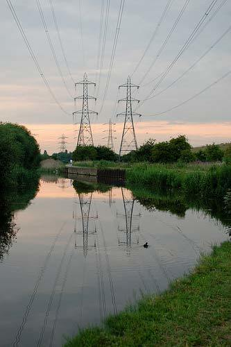 Sunset Reflection, Lee Navigation, Brimsdown, Enfield