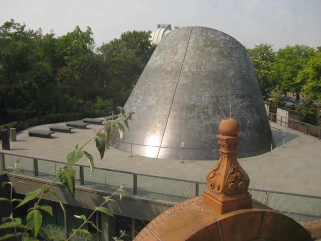 View of the planetarium structure from above.