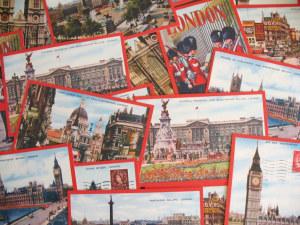Santa's Lap: Vintage Postcards