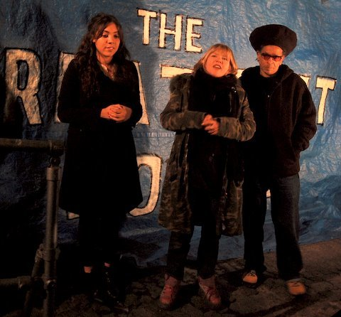 Miquita Oliver, Carrie Reichardt and Don Letts