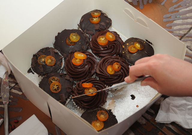 The winner of the 2009 Cupcake Throwdown is revealed as.... Faircake! The candied kumquats (pictured) from Bea's of Bloomsbury ran a close second Chris Osburn