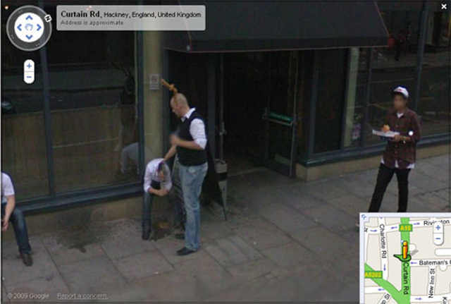 After much hype, Google Street View launched in London in March; snoops quickly sought out the more baffling bits, including this fellow caught vomiting in Shoreditch
