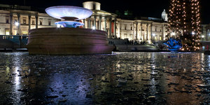 Trafalgar Square Fountains Freeze