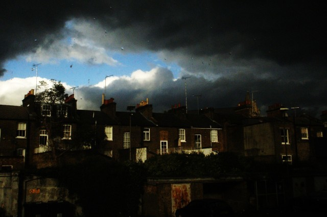 Apocalyptic rain-clouds in Notting Hill