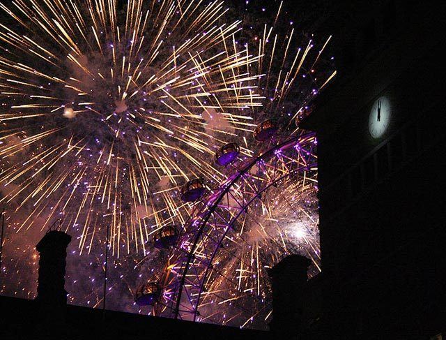 Fireworks over the city  Photo / Tanya N