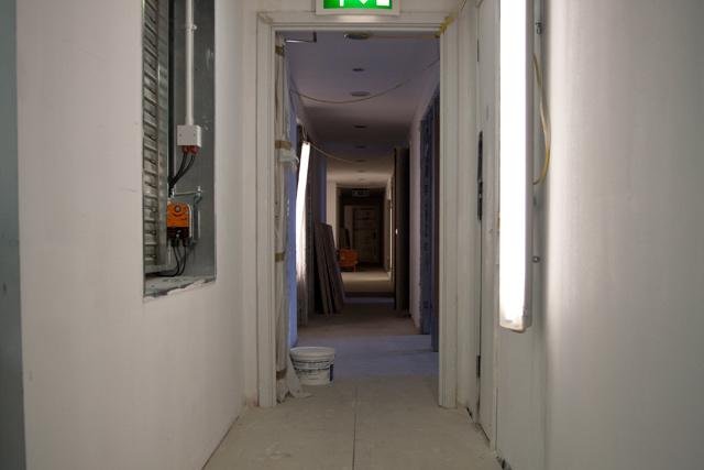 Corridor under construction