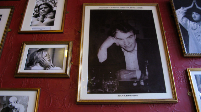 The walls of the pub are festooned with pictures of the great and the good that have performed at the King's Head. Founder, Dan Crawford is amongst them, keeping an eye on the theatre he founded 40 years ago.