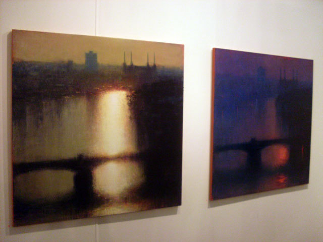 Views of the Thames by Andrew Gifford painted from Jeffrey Archer's penthouse