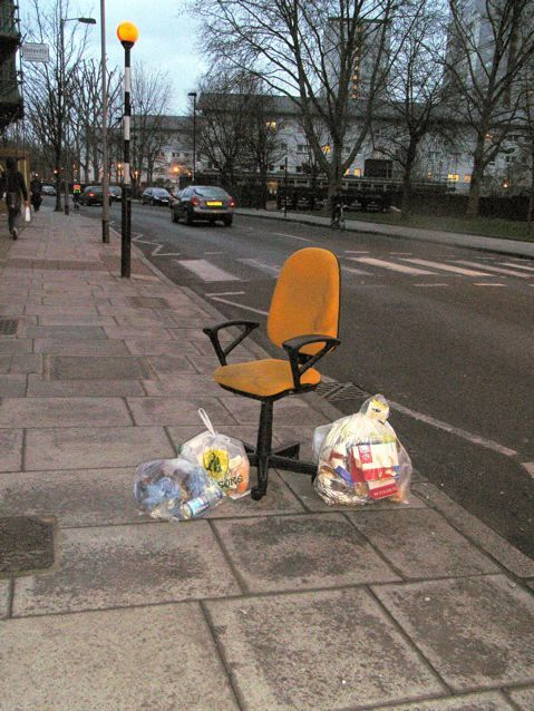 Al fresco office, Hornsey Road, N7