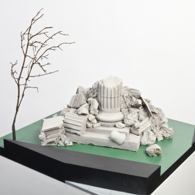 By Ryan Gander. Ostensibly a pile of rubble, the design will also see '50 school children from around Spitalfields will...choose the two most precious things in the city to include in the sculpture.'