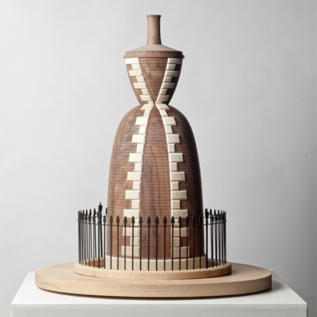 By Tod Hanson. Shaped like a dressmaker's dummy, this design taps local traditions of brick-making and textile work.