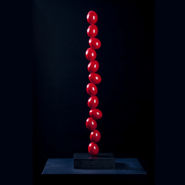 By Wenqin Chen. A 10 metre-tall column of red eggs, to characterise the 'energy of the area'. Go figure.