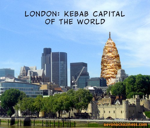 Touch Up London #99: Gherkin Kebab