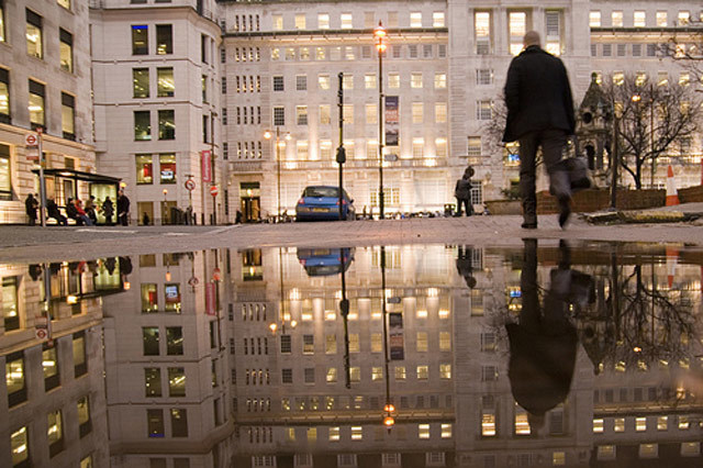 Finsbury Square puddle