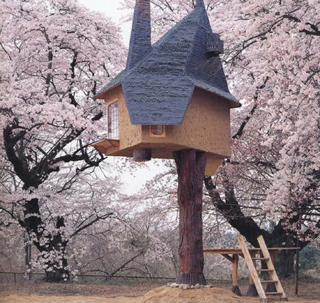 Beetle's House by Terunobu Fujimori: an elevated teahouse accessed by a ladder, it will be built in the Medieval & Renaissance galleries.
