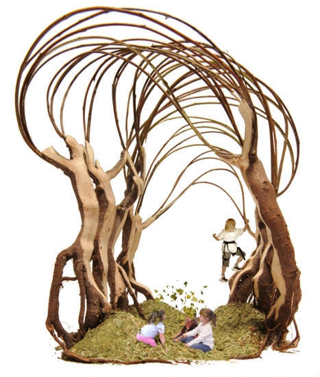 "Ratatosk by Helen & Hard, a climbing frame (or ""structure for climbing and exploration inspired by play and childhood memory"" in architectural argot), will sit in the Madejski Garden."