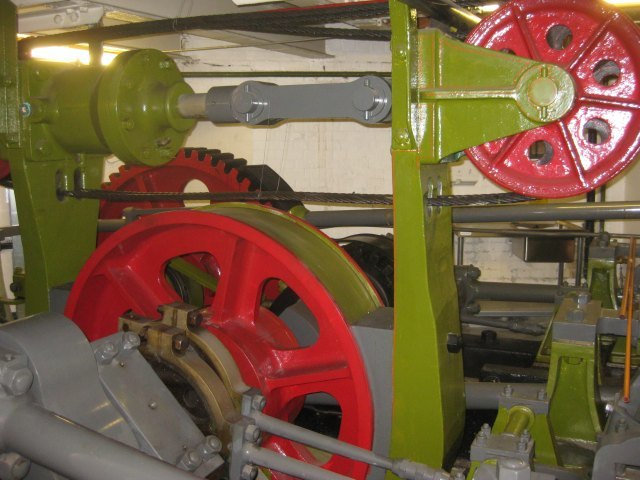 The Victorian hydraulic machinery, decommissioned a couple of decades ago. 'It was much better than the modern engine,' reckons the operator.