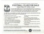 Crystal Palace FC Advertised In Financial Times