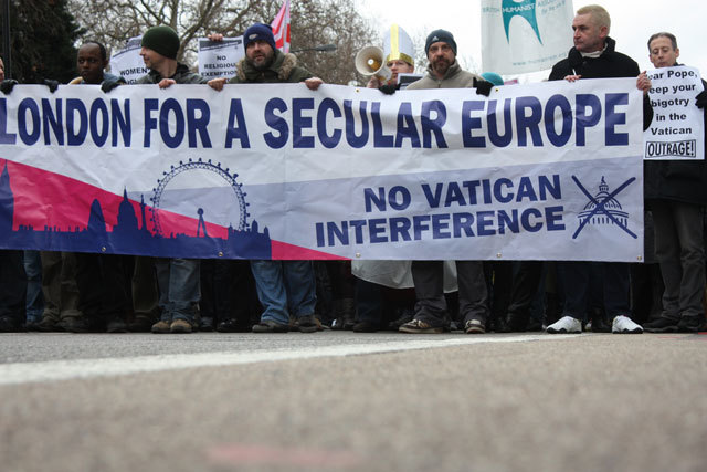 In Pictures: London for a Secular Europe Protest