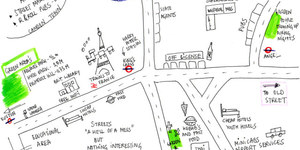 Hand-Drawn Maps of London: King's Cross and Angel