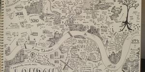 Hand-Drawn Maps of London: City Centre
