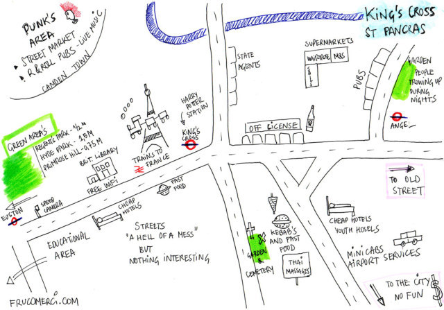 Hand Drawn Maps Of London King S Cross And Angel Londonist