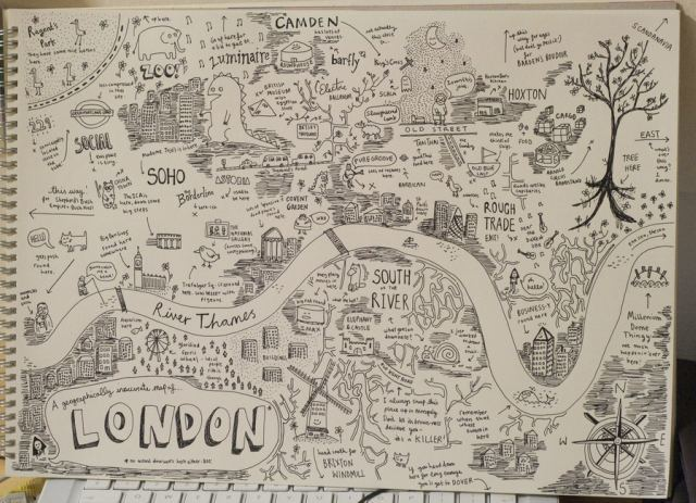 HandDrawn Maps of London City Centre Londonist