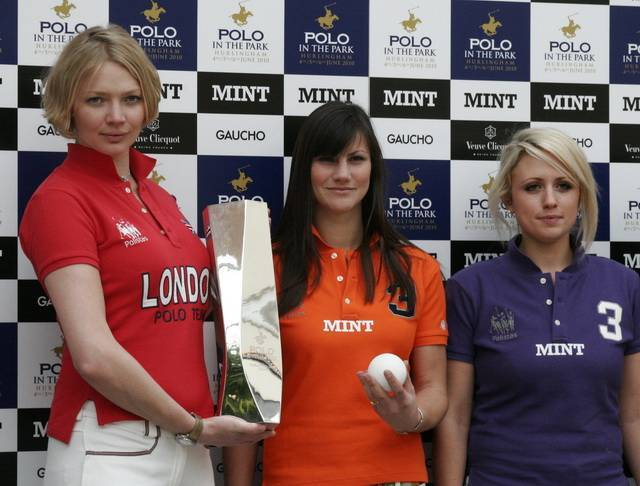 Jodie,                                                                           Some stellar women polo players with the Polo in the Park trophy.