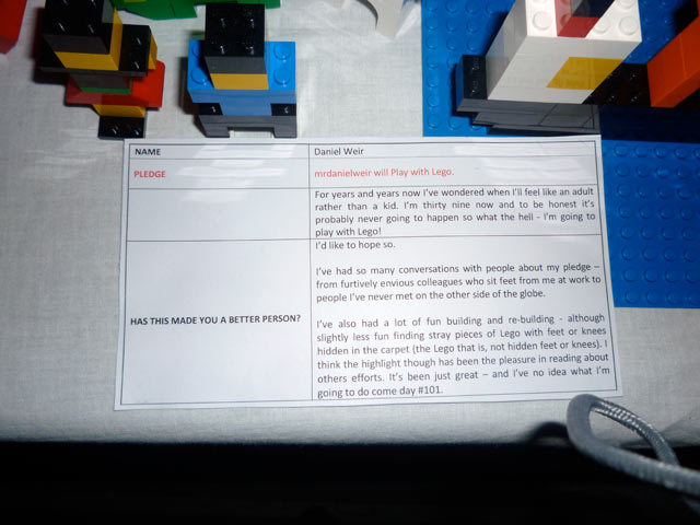 100 days of playing with Lego by Daniel Weir