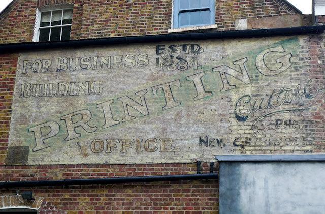 Printing, Rye Lane, Peckham