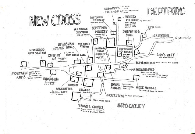 Hand-Drawn Maps of London: New Cross