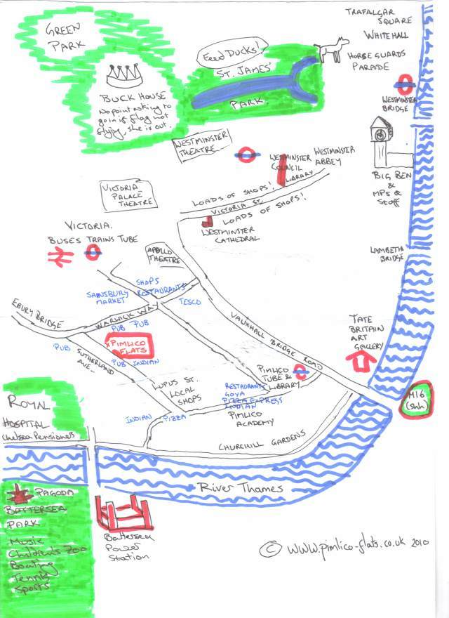 Pimlico London Map.Hand Drawn Maps Of London Pimlico Londonist