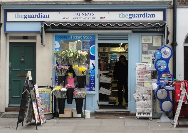 ... and newsagent are open...