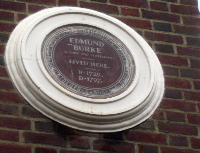 Edmund Burke, the political thinker, member of parliament, and a founder of modern conservatism lived at number 37 from 1787 to 1790.