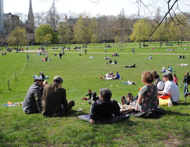 A lovely day for a tea party in the park. Photo by cedickie.