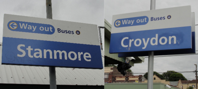 Sorry, we only had time to jump off at the stations in Stanmore and Croydon.