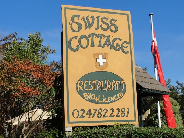 OK, this is a bit of a cheat; Swiss Cottage is actually a restaurant in the Blue Mountains.