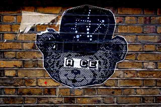 A.CE's work will be familiar to anyone who's wandered the streets of East London.