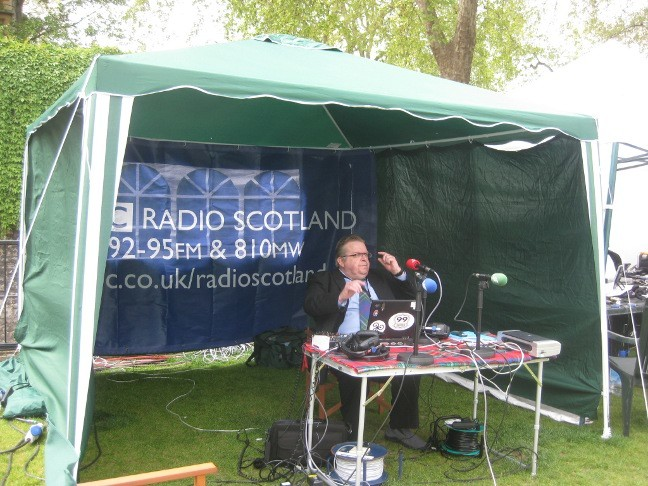 Sole BBC Radio Scotland man staking out a place