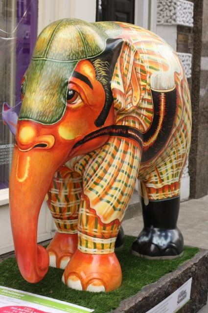Ele-mentary, my dear Watson. A Sherlockian pachyderm in, where else, Baker Street. Image by asw909 in the Londonist Flickr pool.