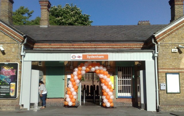 Sydenham train station on ELL opening day / image by the author