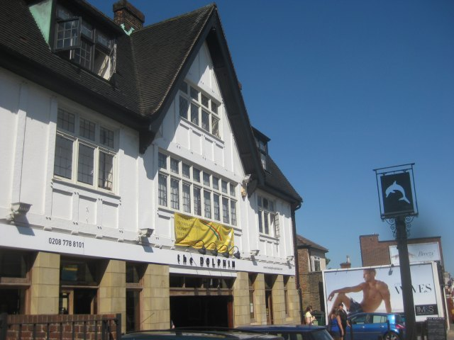 The Dolphin: mock Tudor on the outside, faux-Georgian on the inside.