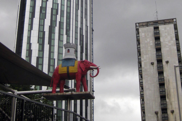 Another plastic pachyderm, at Elephant and Castle.