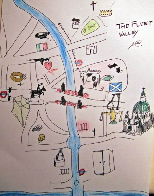 Hand-Drawn Maps of London: The Fleet Valley