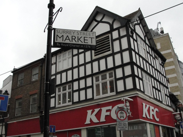 Surrey Street Market, by Royal Charter in 1276. King Edward I probably wasn't thinking of the KFC, though.