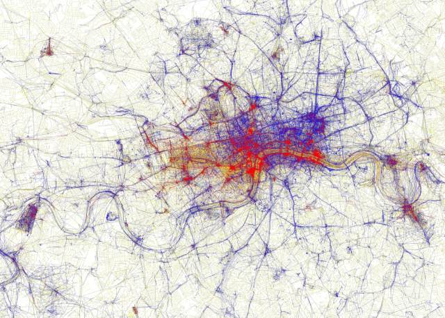Geotagged Photos: Which Bits Of London Get Most Tourists?