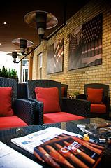 London Cigar Scene:  10 Manchester Street Hotel - Humidor and Cigar Terrace