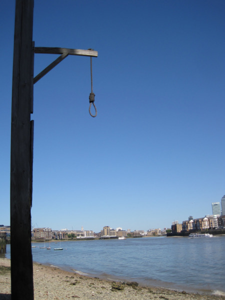 View from the gallows at the Prospect of Whitby