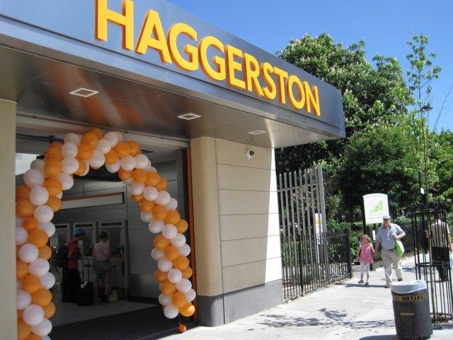 Shiny Haggerston station