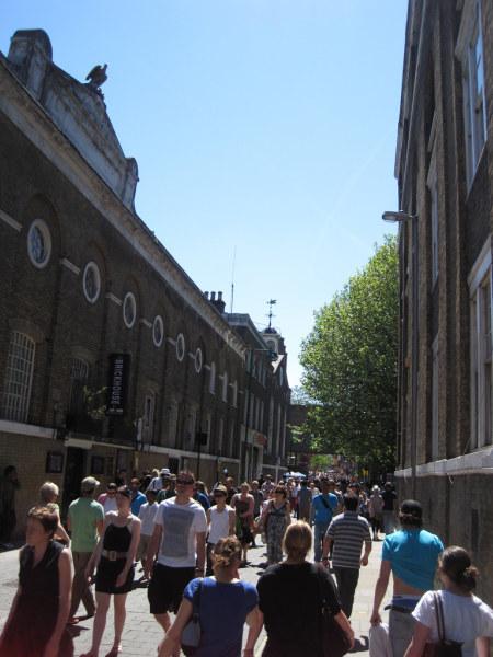 Brick Lane, full of shoppers